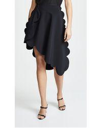 Paskal - Scalloped Skirt With Diagonal Hem - Lyst