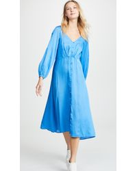 Free People Later Days Midi Dress - Blue