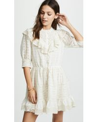 Love Sam - Flower Trails Eyelet Mini Dress - Lyst