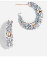 Alison Lou - 14k Petite Etoile Hoop Earrings - Lyst