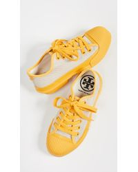 cff4c74ee13 Lyst - Tory Burch Rhea Lace Sneakers in White