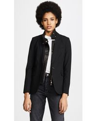 Veronica Beard | Classic Jacket With Leather Dickey | Lyst