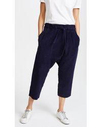 OAK - Cropped Karate Trousers - Lyst