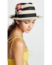 Kate Spade - Blossom Embroidered Trilby Hat - Lyst