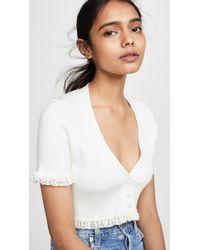 698399c8fc8fd Lyst - Women s For Love   Lemons Short-sleeve tops On Sale