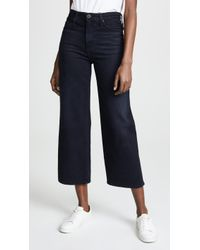 AG Jeans - Etta High Waisted Cropped Jeans - Lyst