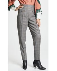 Toga Pulla - Wool Check Tapered Pants - Lyst