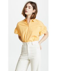 Madewell - Ruffle Sleeve Central Shirt - Lyst