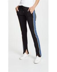 Pam & Gela - Cigarette Track Pants With Denim Stripe - Lyst