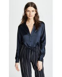 Vince - Collar Band Blouse - Lyst
