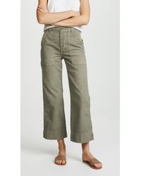 AMO - Army Wide Leg Trousers - Lyst