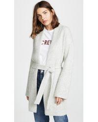 TSE - Cashmere Sweater Coat With Belt - Lyst