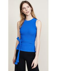 MILLY - Wrap Shell Top - Lyst