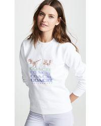 COACH - Shadow Rexy & Carriage Sweatshirt - Lyst