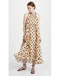 Lee Mathews - Minnie Spot Halter Dress - Lyst