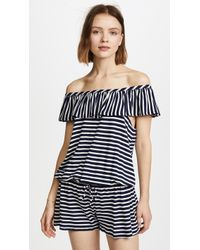 Splendid - Stripe Covers Romper - Lyst