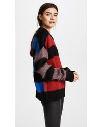 Aries - Stripey Cropped Crew Jumper - Lyst
