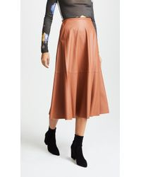 Edition10 - Faux Leather Maxi Skirt - Lyst