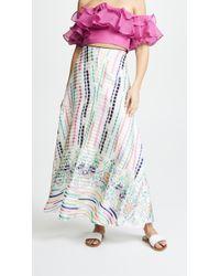 Vilshenko - Rosa Stripe Full Length Skirt - Lyst
