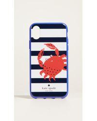 Kate Spade - Stripe Crab Iphone X Case - Lyst