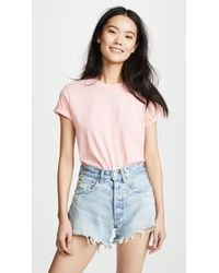 7 For All Mankind - Mankind Baby Tee With Embroidery - Lyst