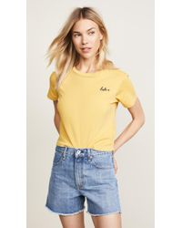 AMO - Embroidered Tee - Lyst