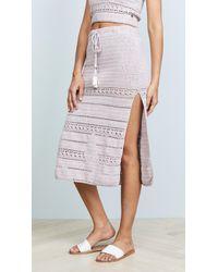 She Made Me - Rose Crochet Midi Skirt - Lyst