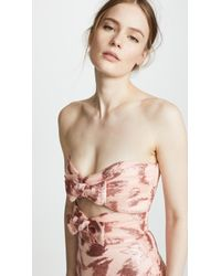 Rodarte - Strapless Bustier With Bow Details - Lyst