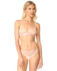 Les Girls, Les Boys - Soft Triangle Bra - Lyst