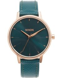 Nixon - Lux Life Kensington Leather Watch - Lyst