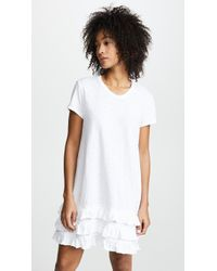 Wilt | Tee Dress With Lace Ruffle Trim | Lyst