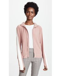 Norma Kamali - Side Stripe Turtle Track Jacket - Lyst