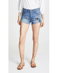 Anna Sui - Levi's X Peacock Patch & Rising Sun Shorts - Lyst