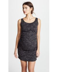Ingrid & Isabel - Marble Shirred Maternity Tank Dress - Lyst