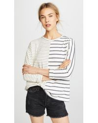 CLU - Striped Long Sleeve Tee - Lyst