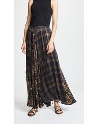 Mes Demoiselles - Long Checked Skirt - Lyst