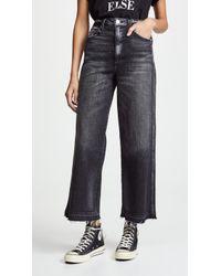 AMO - Ava Crop Jeans - Lyst