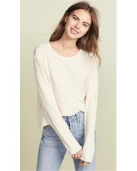 The Great - The Long Sleeve Crop Tee - Lyst
