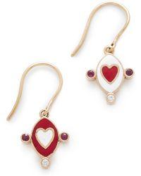 Holly Dyment - Go Lightly Heart Earrings - Lyst
