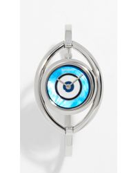 c304c8284639b Michael Kors Watch Alignment Acetate Slider Charm Bracelet in Blue ...