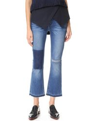 10 Crosby Derek Lam | Gia Mid Rise Cropped Flare Jeans | Lyst
