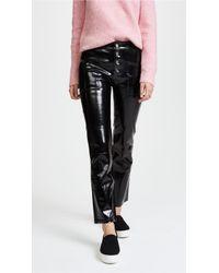 RTA - Theadora Patent Leather Pants - Lyst