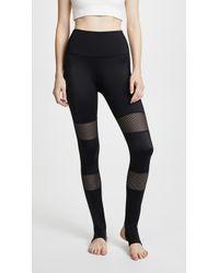 Beyond Yoga - Blocked Out Stirrup Leggings - Lyst