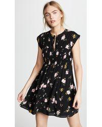 Free People - Greatest Day Smocked Mini Dress - Lyst