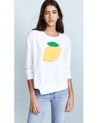 Sundry - Lemon Sweatshirt - Lyst