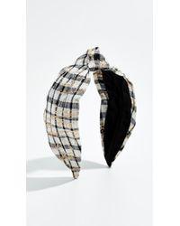 NAMJOSH - Black & White Plaid Headband - Lyst