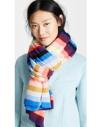 White + Warren - Cashmere Striped Wrap Scarf - Lyst