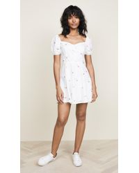 Re:named - Frill Embroidered Dress - Lyst