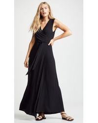38a1d8f03d Alice + Olivia Daren V Neck Maxi Dress in Black - Lyst