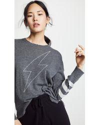 Sundry - Lightning Bolt Sweater - Lyst